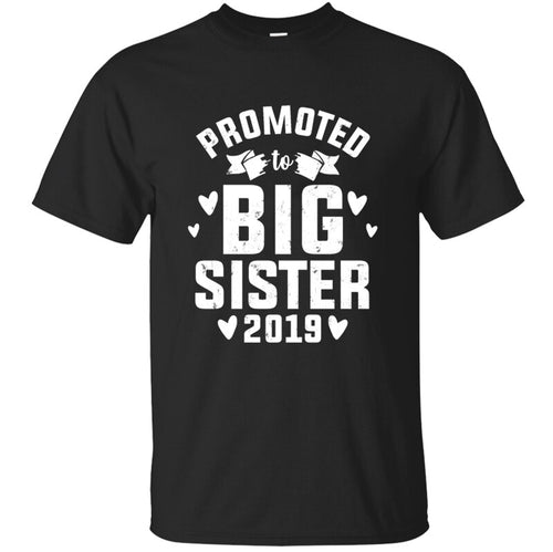 Knitted Comical Promoted To Big Sister 2019 New Older Sister T Shirt Man Normal Men's T Shirt Anti-Wrinkle Hiphop Hipster