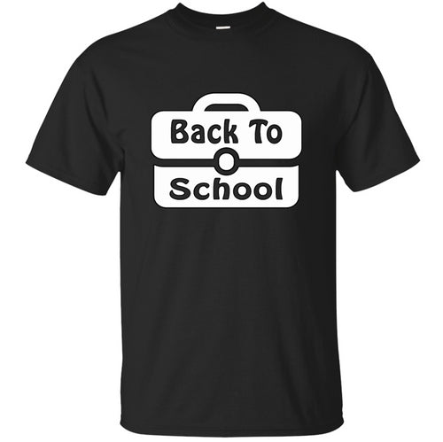 New Cool Back To School Fashion For Kids First Day Of School Tshirt For Men Cotton Male Tee Shirt Anti-Wrinkle Gift