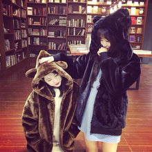 Load image into Gallery viewer, Final Stock! Kawaii Fluffy Bear Ear Hoodie Coat SP1710725