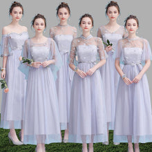 Load image into Gallery viewer, Grey/Purple/Champagne Elegant Long Dress SP14594