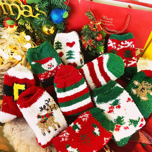 Cutie Christmas Xmas Fleece Socks SP13280