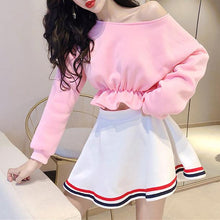 Load image into Gallery viewer, Pink Kawaii Preppy Style Sailor Top/Skirt Set SP13561