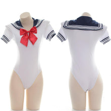 Load image into Gallery viewer, White Sailor Bow Seifuku Swimsuit SP14413