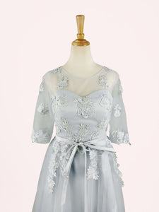 Pink/Grey Sweet Bowknot Lace Dress SP1710899