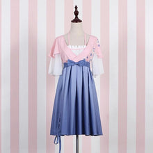 Load image into Gallery viewer, White/Blue Gradient Sakura Dress SP179798
