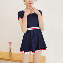 Load image into Gallery viewer, Sweet Falbala Preppy Style One-Piece Swimsuit SP14019