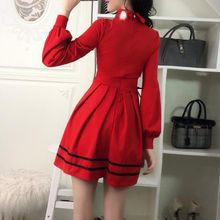 Load image into Gallery viewer, FreeShip Black/Red Sweet Lolita Heart Hollow Out Dress SP1811600