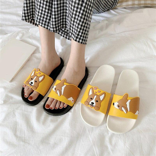 Women Summer Sandals Ladies Light PVC Leather Dog Slipper Female Indoor Bathroom Non Slip Shoes Woman Platform Slippers