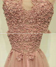 Load image into Gallery viewer, Pink Tulle Lace Short Prom Dress, Cheap Evening Dress