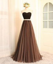 Load image into Gallery viewer, Black Sweetheart Neck Long Prom Dress, Black Evening Dress
