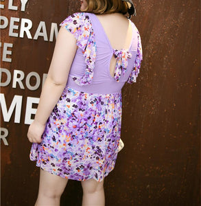 [4 Colors] 2XL-4XL Floral One-Piece Plus Size Swimsuit SP167080