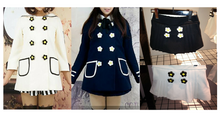 Load image into Gallery viewer, Navy/White Daisy Flowers Coat SP153806/Pant-skirt SP154355