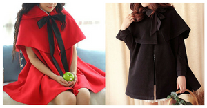 Red/Black [Little Red Hood]Lolita Two-Piece Cloak Coat SP153715