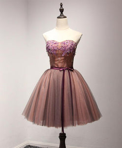 Stylish Tulle Lace Short Prom Dress, Formal Dress