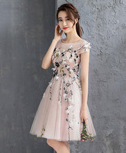 Load image into Gallery viewer, Pink Tulle Short Prom Dress, Homecoming Dress, Cocktail Dress