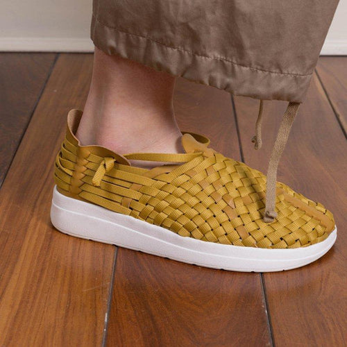 Plus Size Fly Woven Trainers Outdoor Wide Fit Sneakers