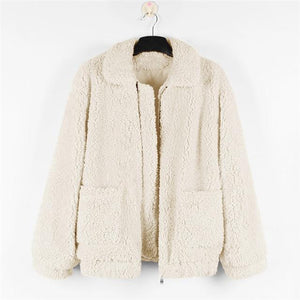 8 Colors Thick Warm Fur Lambswool Jacket SP14662