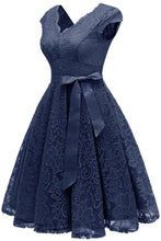 Load image into Gallery viewer, 5 Colors Elegant Floral Lace Dress SP14459
