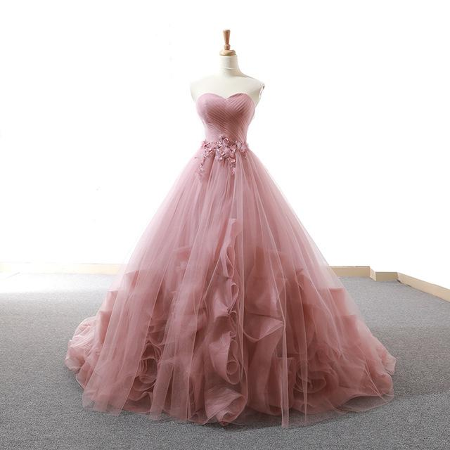 Elegant Ball Gown Lace Tiered Quinceanera Dresses SP14760
