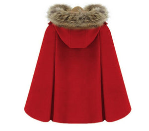 Autumn Winter Double-Breasted Cloak Cape S13160