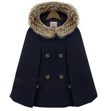 Load image into Gallery viewer, Autumn Winter Double-Breasted Cloak Cape S13160
