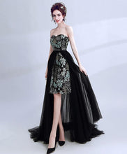 Load image into Gallery viewer, Unique Black Two Pieces Long Prom Dress, Formal Dress