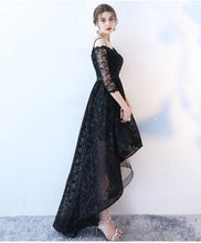 Load image into Gallery viewer, Stylish High Low Lace Prom Dress, Lace Evening Dress