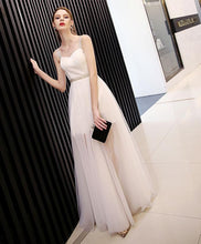 Load image into Gallery viewer, White Sweetheart Neck Long Prom Dress, White Evening Dress