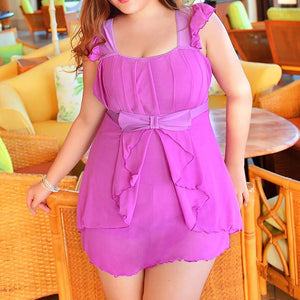 3XL-6XL 4 Colors Fashional One Piece Swimsuit SP165561
