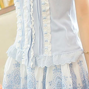 3 Colors Lace Sleeveless Shirt SP152933