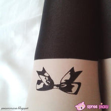 Load image into Gallery viewer, Little Bow Fake Over Knee Thigh High Tights SP140915