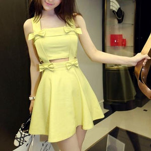 Final Stock! 4 Colors Sweet Bow Sundress SP1812571