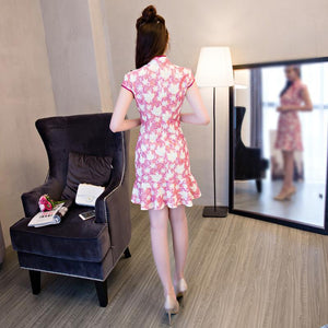 6 Colors Lady Falbala Cheongsam Dress SP1710212