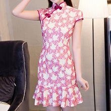 Load image into Gallery viewer, 6 Colors Lady Falbala Cheongsam Dress SP1710212