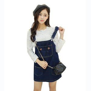 Black/Blue Kawaii Bear Suspender Dress SP179896