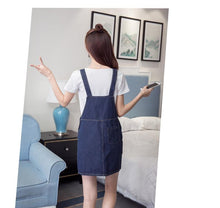 Load image into Gallery viewer, Black/Blue Kawaii Bear Suspender Dress SP179896