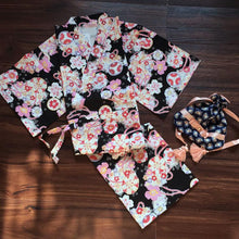 Load image into Gallery viewer, Black/Pink/Red Harajuku Floral Kimono Set SP1710151