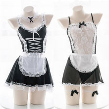 Load image into Gallery viewer, Black/White Lace Maid Cosplay Uniform Dress S12679