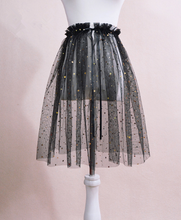 Load image into Gallery viewer, Black/White Star Gauzy Skirt SP1811967