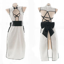 Load image into Gallery viewer, Black/White Sweet Star Bow Cheongsam Dress S12689