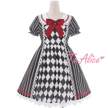 Load image into Gallery viewer, Elegant Stripe Grid Alice Dress SP179506