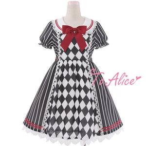 Elegant Stripe Grid Alice Dress SP179506