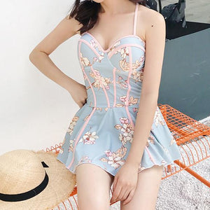 Fairy Floral One-Piece Swimsuit SP1812490