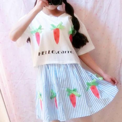 Hello Carrot 2 Piece Set Dress SP152251