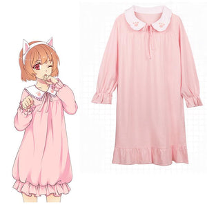 Kawaii Cat Falbala Dress SP1812075