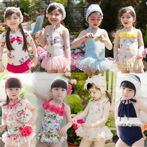 Cutie Floral One-piece Kids Swimsuit SP165549