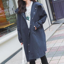 Load image into Gallery viewer, Pink/Light Green/Navy Soft Oversize Long Hoodie Jacket SP178989