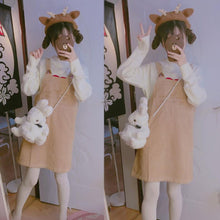 Load image into Gallery viewer, Kawaii Cat Ear Suspender Dress SP167956