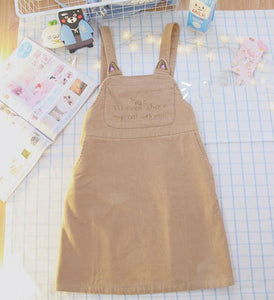 Kawaii Cat Ear Suspender Dress SP167956