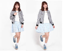 Load image into Gallery viewer, Light Blue/Pastel Violet Kawaii Printing Skirt SP166448